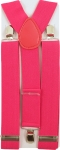 Y-Form Hosenträger Neon Pink 3 Clips Extra Breit 3.5 cm